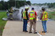 Vehicle Fire Closes South State Line Exit from Loop