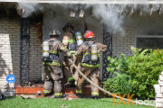 House fire at E. 35th and Beech